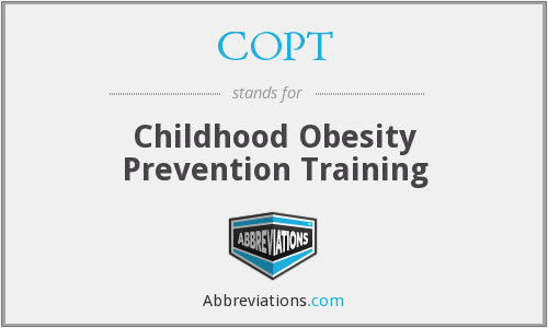 COPT - Childhood Obesity Prevention Training