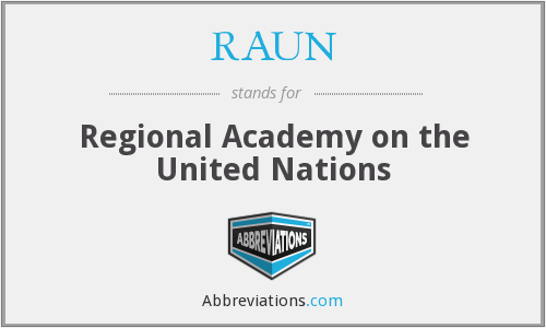 What does RAUN stand for?
