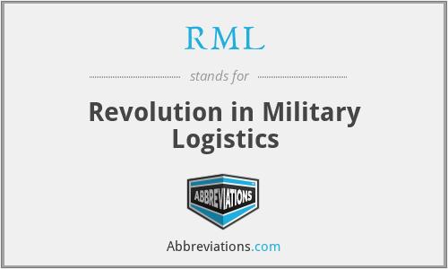 RML - Revolution in Military Logistics