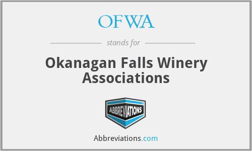 OFWA - Okanagan Falls Winery Associations