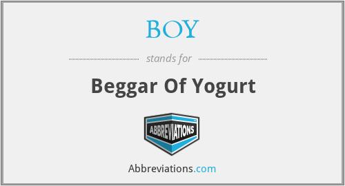 BOY - Beggar Of Yogurt