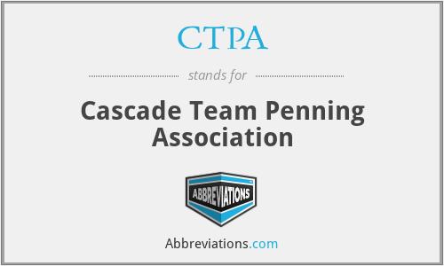 CTPA - Cascade Team Penning Association