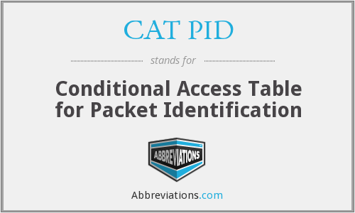 What does CAT PID stand for?