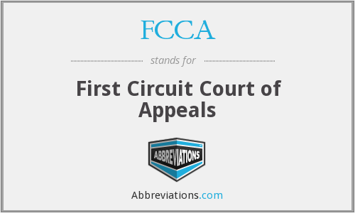 FCCA - First Circuit Court of Appeals
