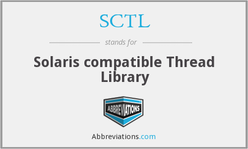 SCTL - Solaris compatible Thread Library