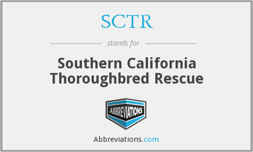 SCTR - Southern California Thoroughbred Rescue