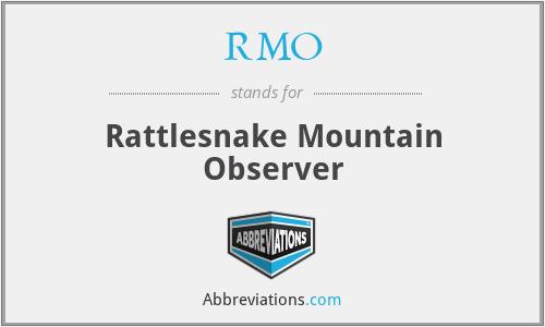 RMO - Rattlesnake Mountain Observer