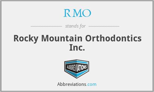 RMO - Rocky Mountain Orthodontics Inc.