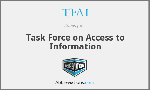 What does TFAI stand for?