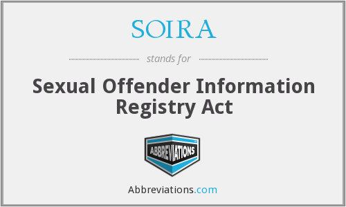 What does SOIRA stand for?