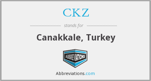 CKZ - Canakkale, Turkey