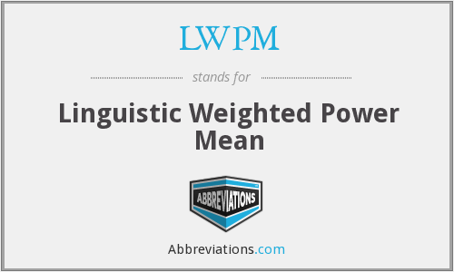What does LWPM stand for?
