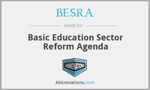 What does BESRA stand for?