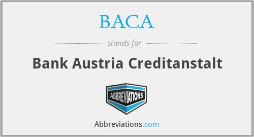 BACA - Bank Austria Creditanstalt