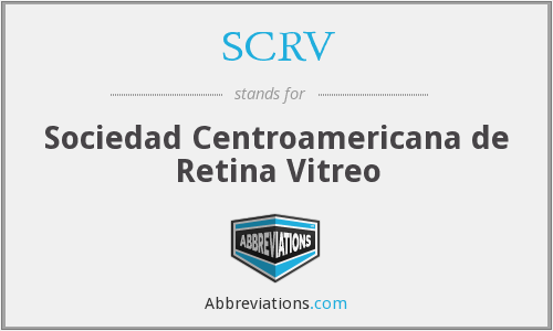 What does SCRV stand for?