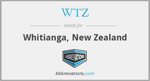 WTZ - Whitianga, New Zealand