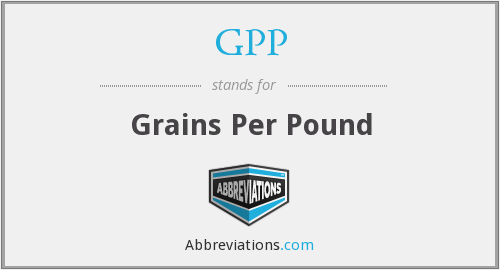 GPP - Grains Per Pound