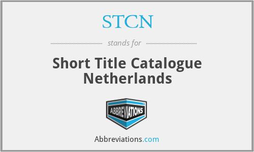 STCN - Short Title Catalogue Netherlands