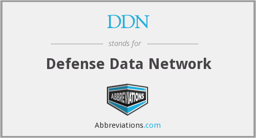 DDN - Defense Data Network