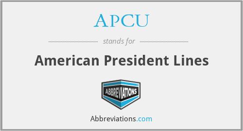 APCU - American President Lines