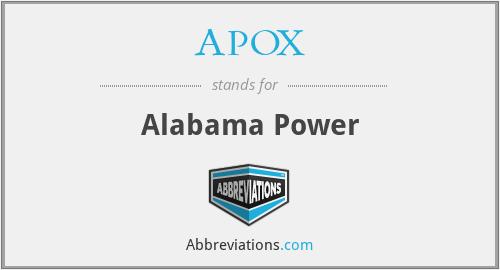 APOX - Alabama Power