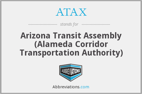 What does ATAX stand for?