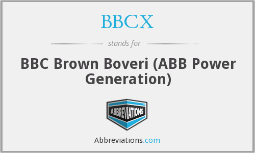 BBCX - BBC Brown Boveri (ABB Power Generation)