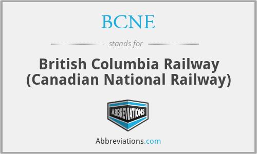 BCNE - British Columbia Railway (Canadian National Railway)