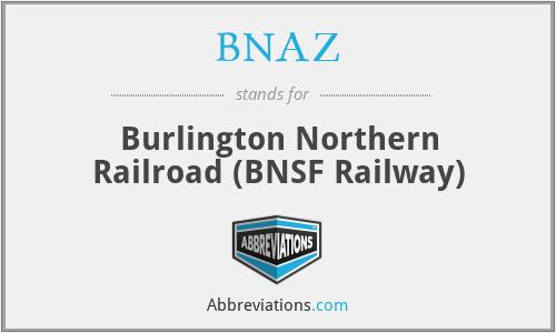 BNAZ - Burlington Northern Railroad (BNSF Railway)