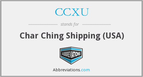 What does CCXU stand for?