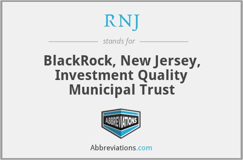 RNJ - BlackRock, New Jersey, Investment Quality Municipal Trust