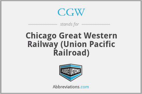 CGW - Chicago Great Western Railway (Union Pacific Railroad)
