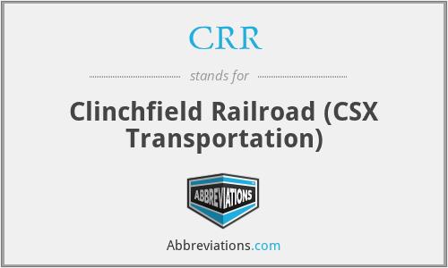 CRR - Clinchfield Railroad (CSX Transportation)