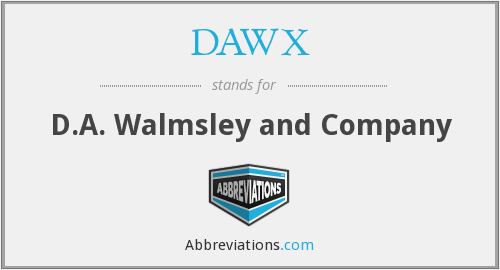 What does DAWX stand for?