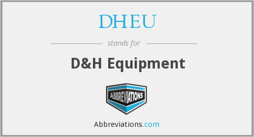 What does DHEU stand for?