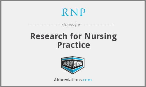 RNP - Research for Nursing Practice