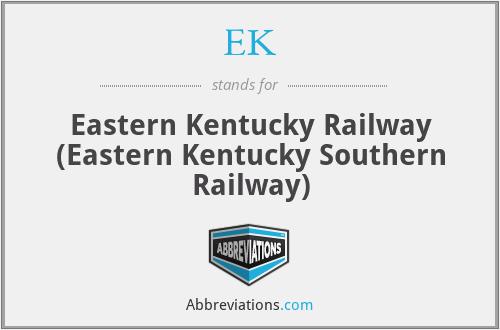 EK - Eastern Kentucky Railway (Eastern Kentucky Southern Railway)