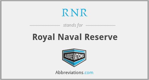 RNR - Royal Naval Reserve