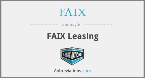 FAIX - FAIX Leasing