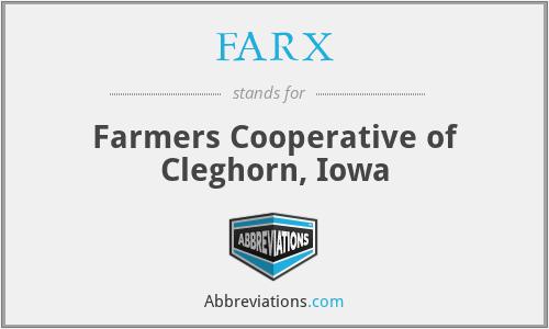 FARX - Farmers Cooperative of Cleghorn, Iowa