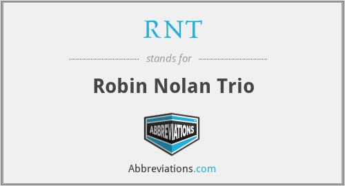 RNT - Robin Nolan Trio