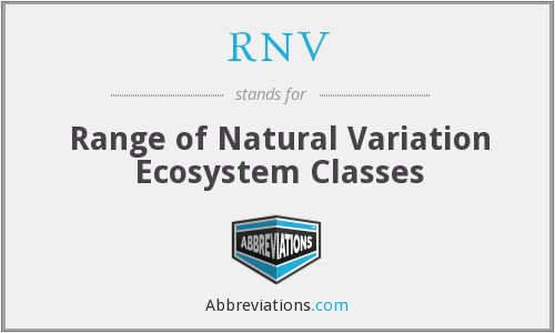 RNV - Range of Natural Variation Ecosystem Classes