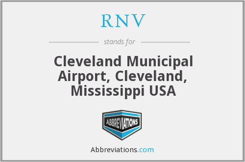 RNV - Cleveland Municipal Airport, Cleveland, Mississippi USA