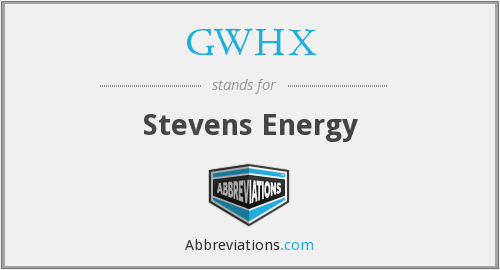 What does GWHX stand for?