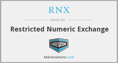 What does RNX stand for?