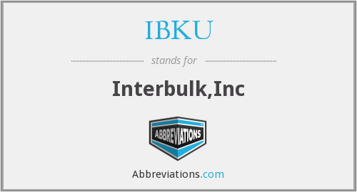 What does IBKU stand for?