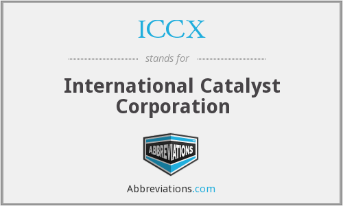 What does ICCX stand for?