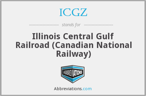 What does ICGZ stand for?