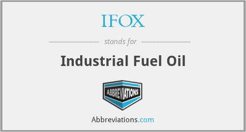 IFOX - Industrial Fuel Oil