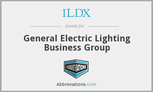 ILDX - General Electric Lighting Business Group